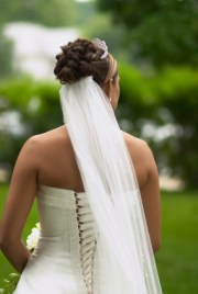 view veil attached with updo