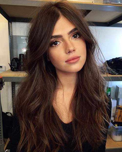 Pretty dark chocolate colored long hairstyles | Hairstyle Woman
