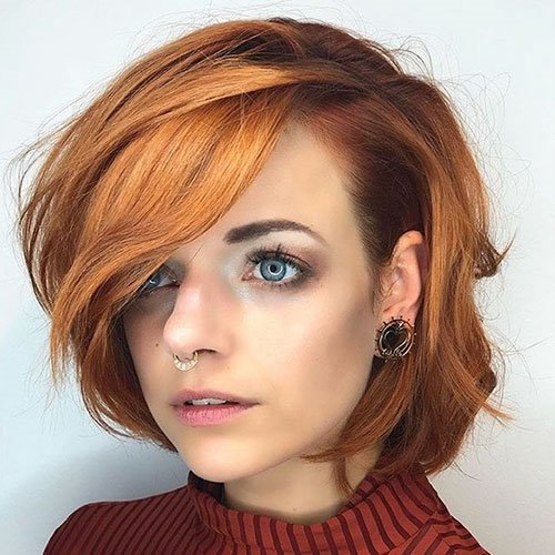 45 The Best New Short Hair With Side Swept Pony Hairstyle Woman