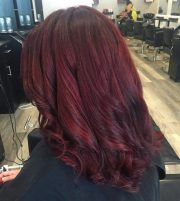stunning dark red hair color