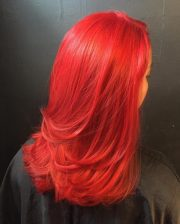 radiant bright red hair color