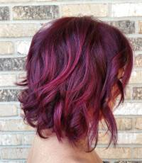 Purple Hair Color Ideas Highlights Of Violet Hair Color ...