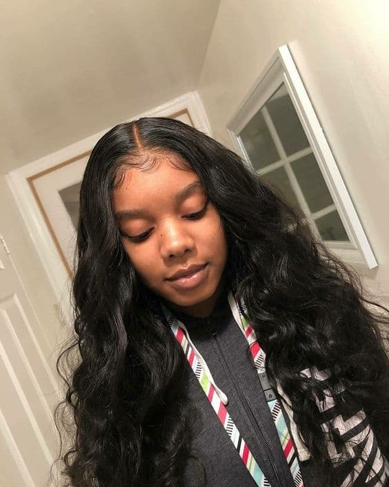 Middle Part Sew In Body Wave : middle, Beautiful, Hairstyles, Pictures, Theme
