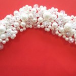 Bridal Hair Crystal White Flower Head. Pearl Crown.