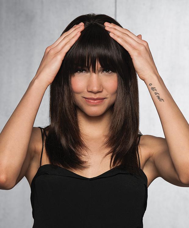 Human Hair Clip In Bang HairUWear