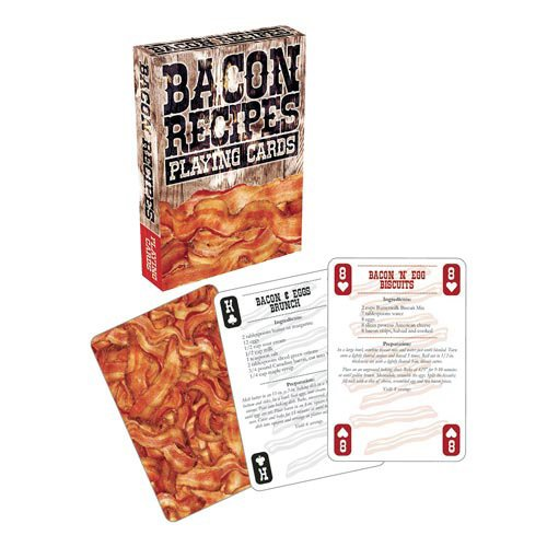wpid bacon recipes playing cards 1 - Bacon Recipes Playing Cards