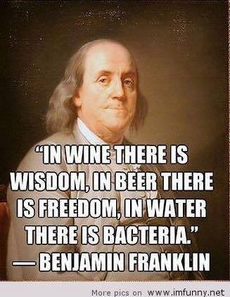 image1 1 - Benjamin Franklin - in #beer there is #freedom
