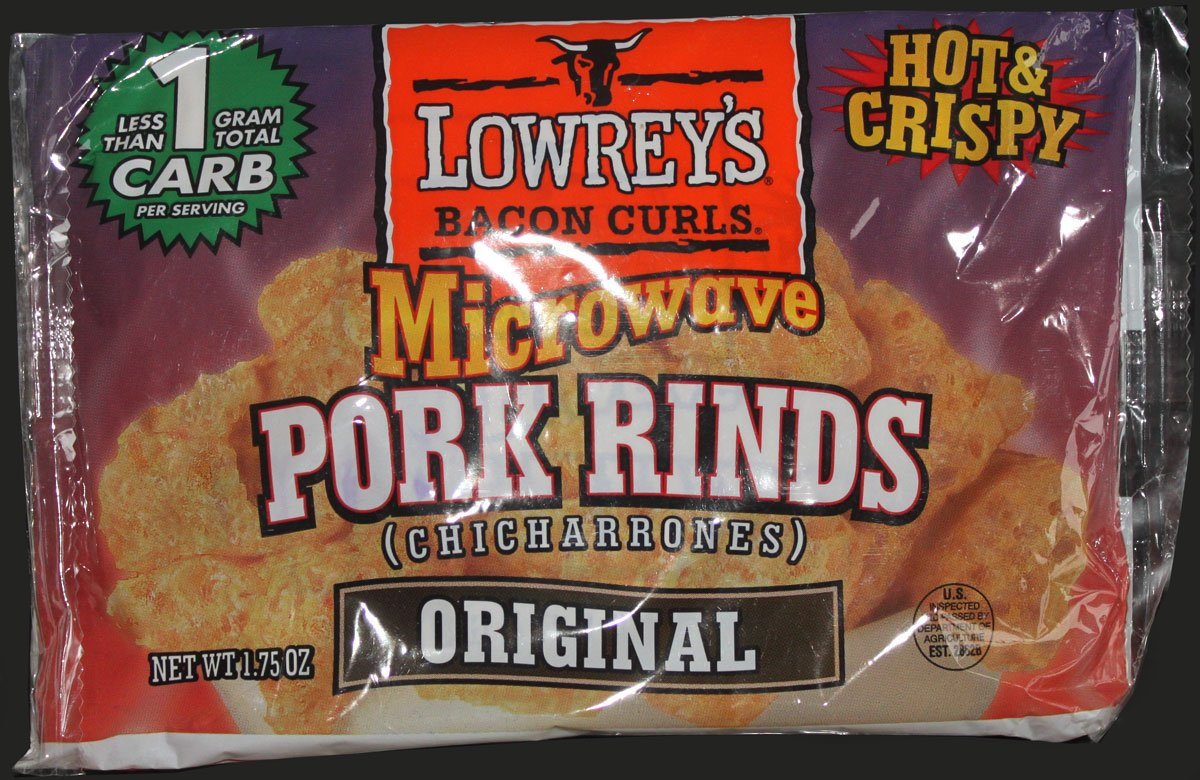 Lowreys Bacon Curls Microwave Pork Rinds Review - Lowrey's Bacon Curls, Microwave Pork Rinds Review