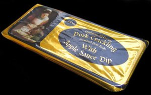 Ray Gray Apple Sauce Dip pot Pork Crackling Review2 - Pork Scratching Bags