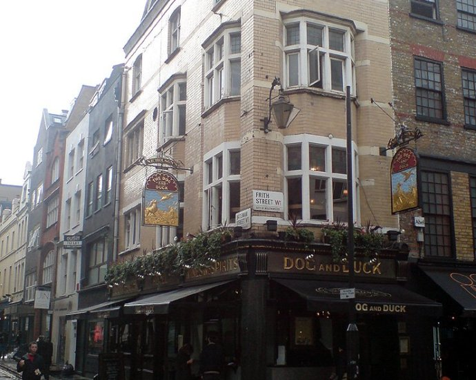 The Dog and Duck Soho London Pub Review - The Dog and Duck, Soho, London - Pub Review