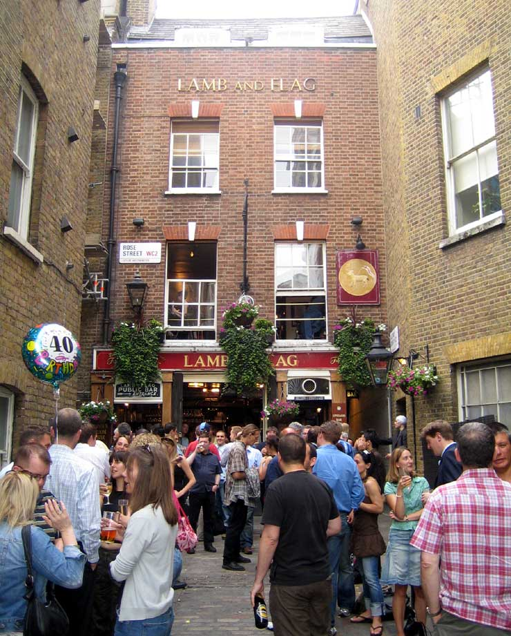 The Lamb and Flag Covent Garden London Pub Review - The Lamb and Flag, Covent Garden, London - Pub Review