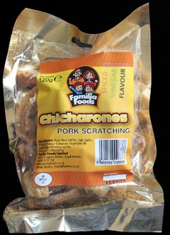 Familia Foods Chicarones Spiced Vinegar Flavour Pork Scratchings Review - Familia Foods, Chicarones, Spiced Vinegar Flavour Pork Scratchings Review