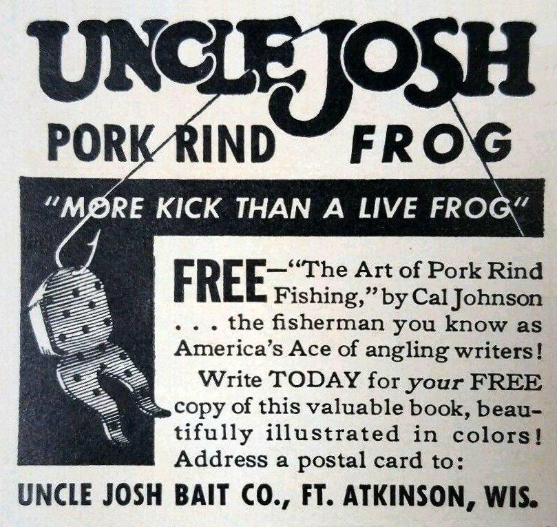 Uncle Josh Pork Rind Frog - Uncle Josh Pork Rind Frog
