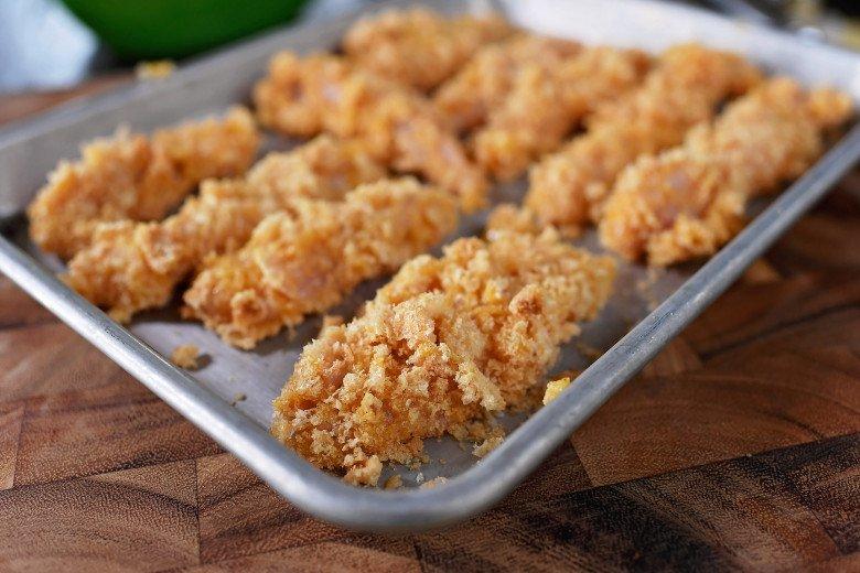 DSC 4878 - Pork Rind/Crunch Chicken Strips Recipe!