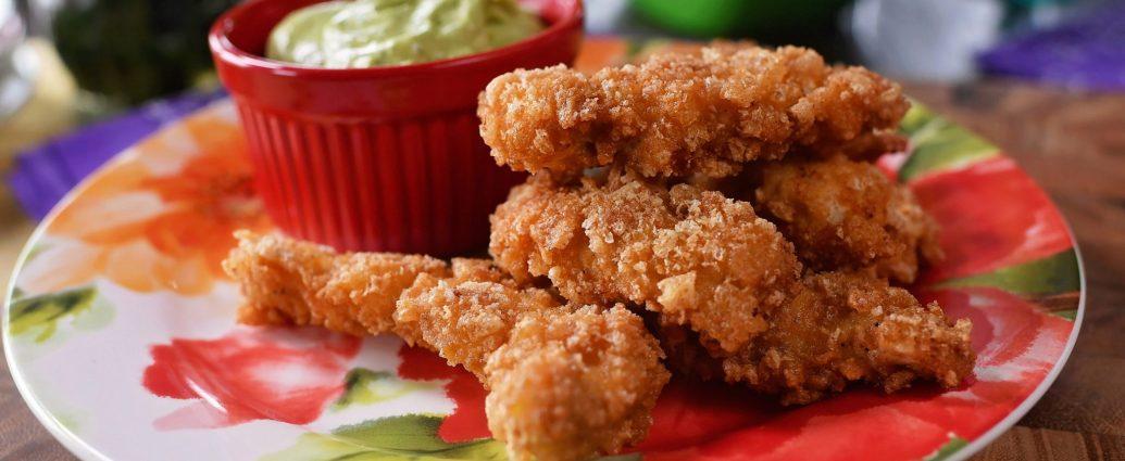 PorkRindChickenStrips2 - Pork Rind/Crunch Chicken Strips Recipe!