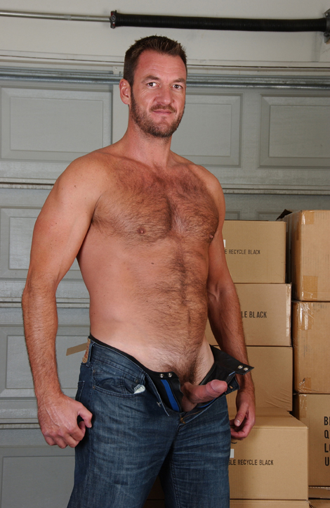 furry chested south african stud anthony london jerks off at nasty daddy