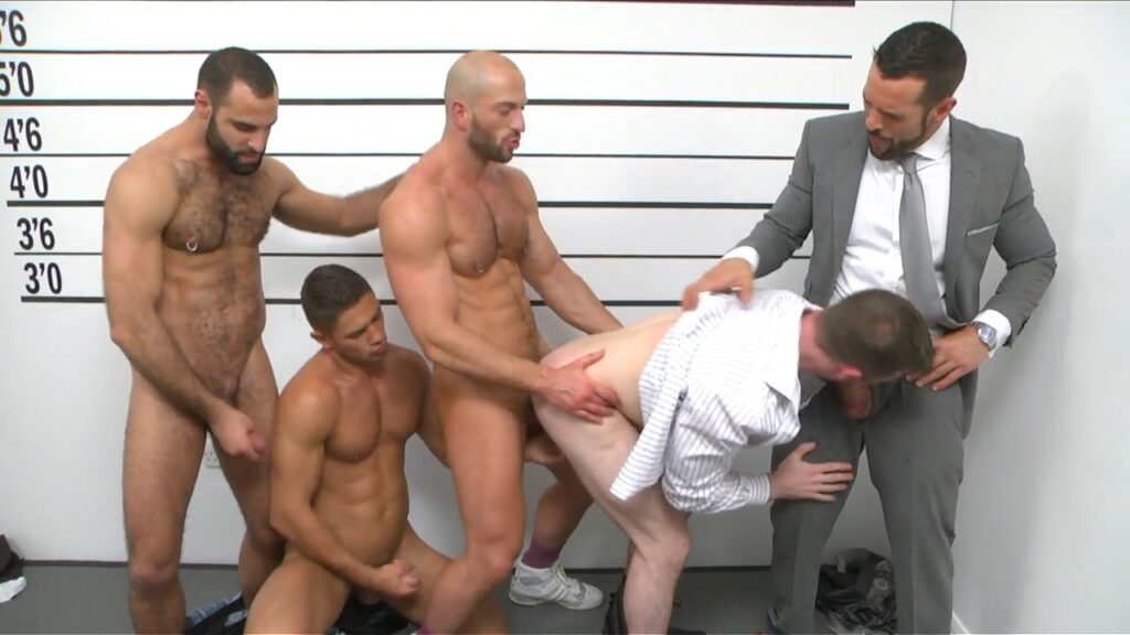 Gay boys line up and take their clothes off