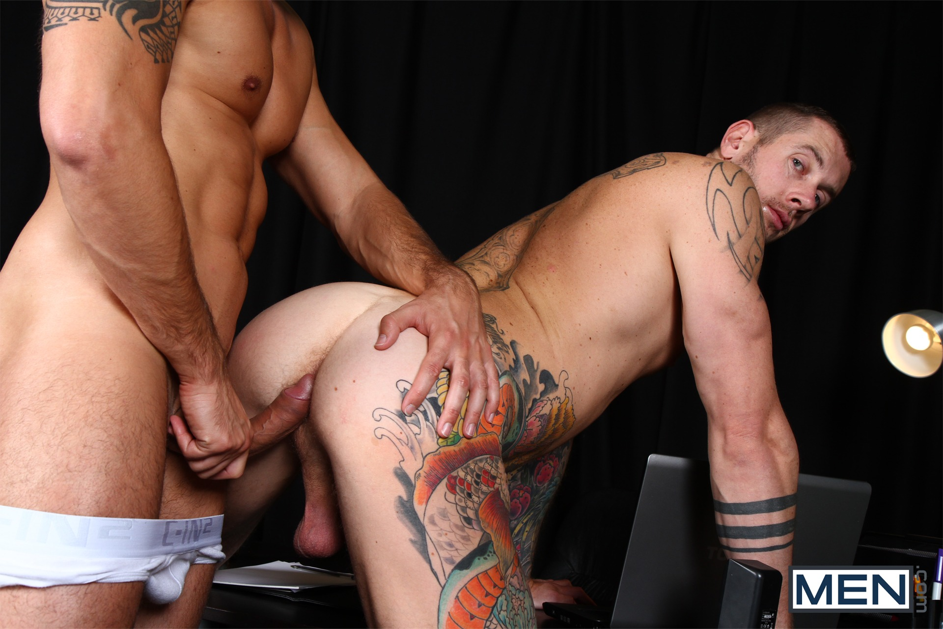 Horny Ass Gets Pounded Hard In The Gay Office  Hairy Guys -6345