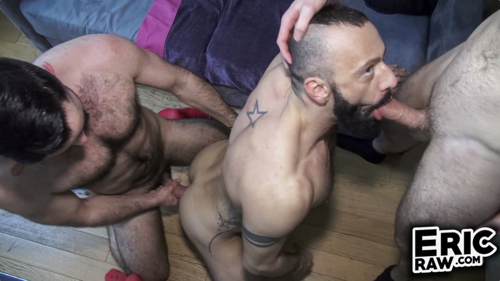 Hairy Bareback Trio 04