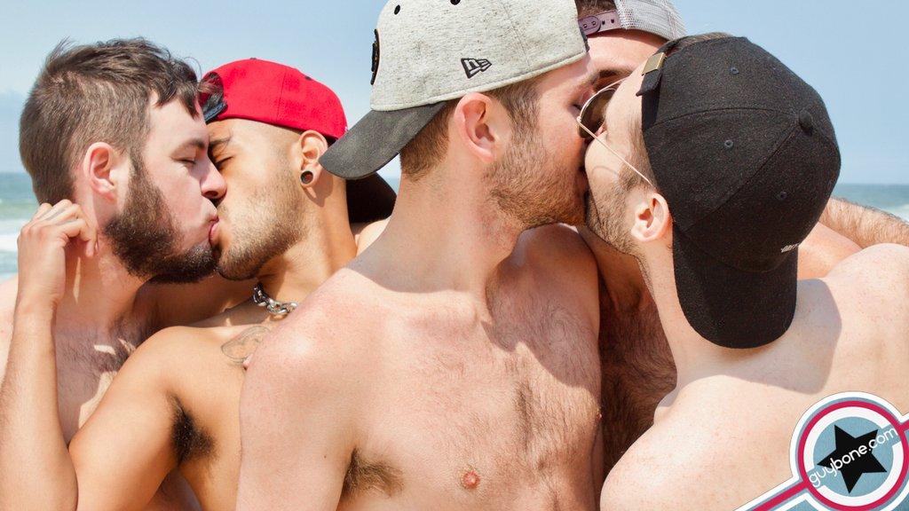 Five Hairy Guys Fuck Raw Outdoor 03