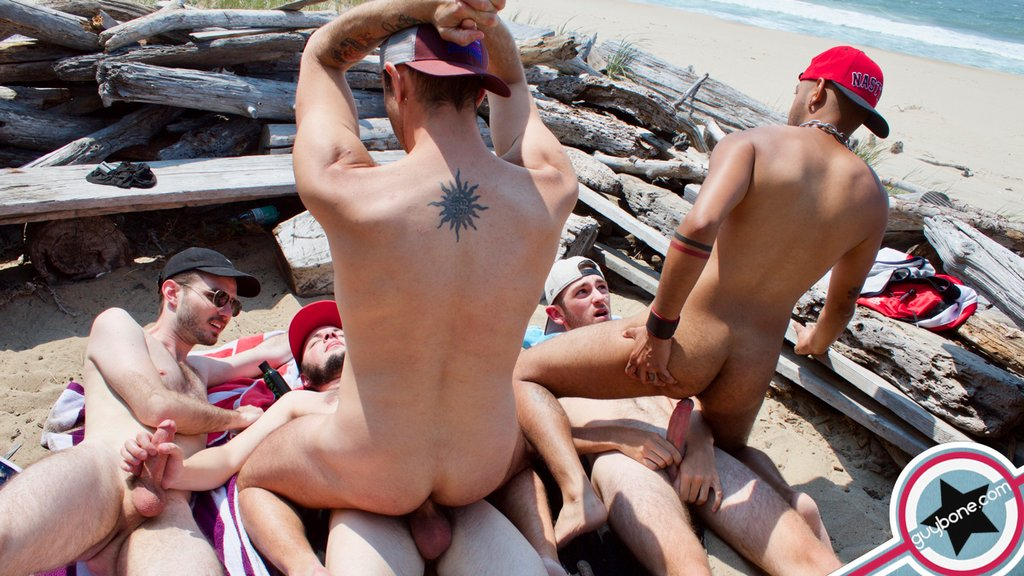 Five Hairy Guys Fuck Raw Outdoor 09