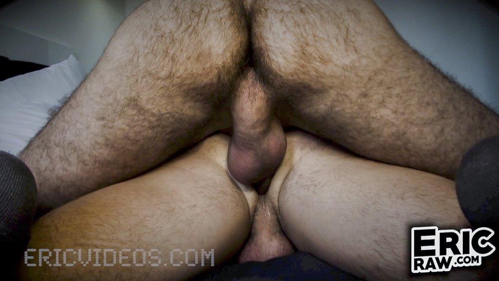 Hairy Macho Man Likes Huge Raw Cock 04