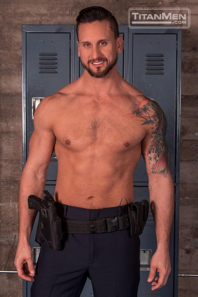 bad cop dakota rivers strips his uniform - HAIRY GUYS IN