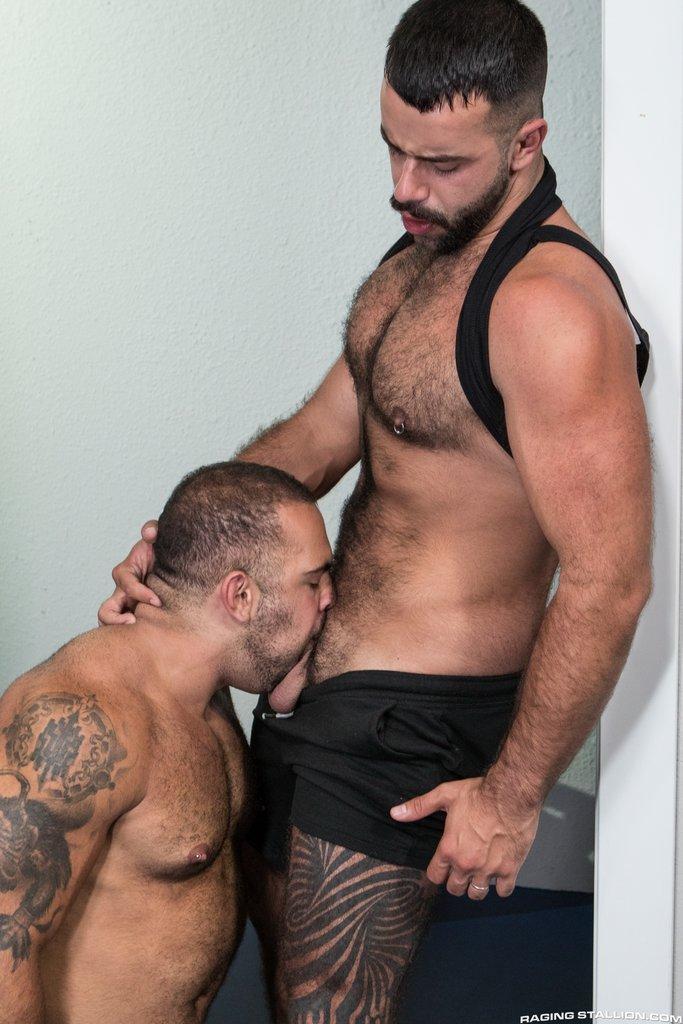 Hairy Guys Teddy Torres and Lorenzo Flexx Sucking Dicks 03