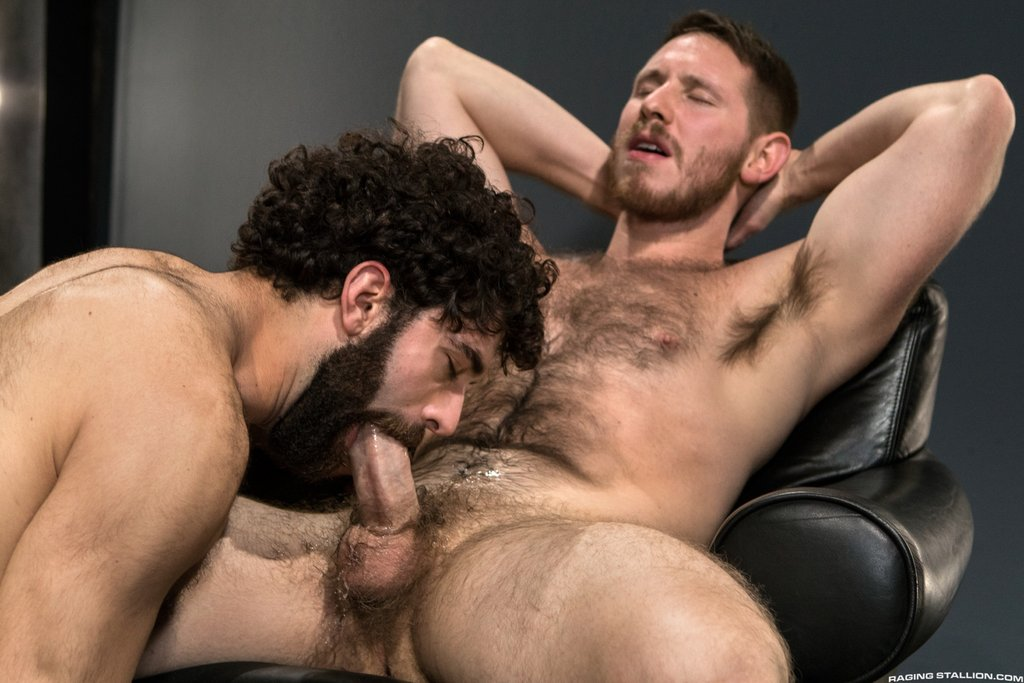 Two Sexy Hairy Guys Suck Dicks 01