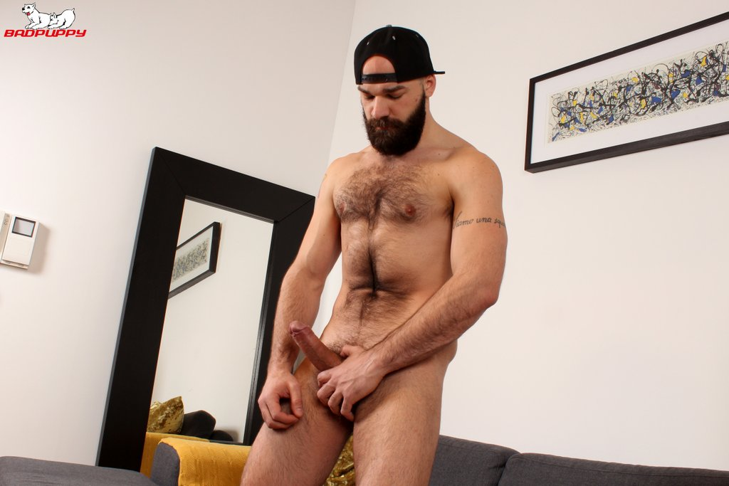 Hairy Hunk Max Duro Jerks off 02