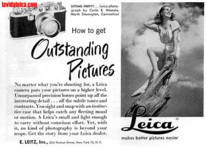 A vintage Leica advert