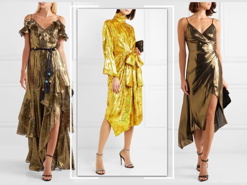 LITTLE GOLD DRESSES