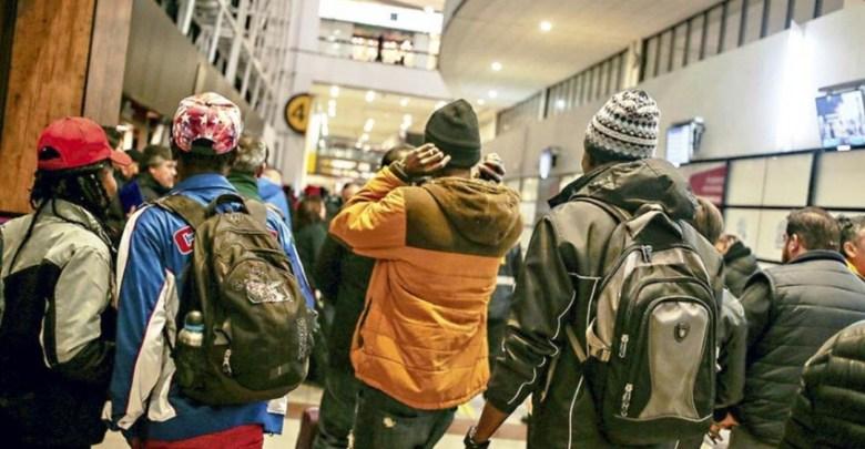 Vue des migrantes et migrants haïtiens au Chili