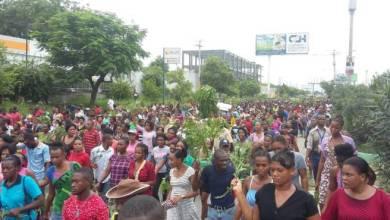 Des ouvriers en pleine manifestation en mai dernier1
