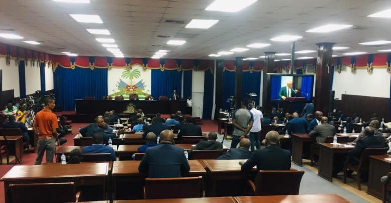 Vue de lassemblée lors de la dernière séance pour la demande de mise en accusation du chef de lEtat tenue de le 7 août 2019