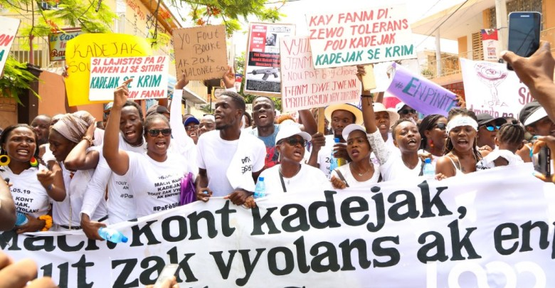 Haitians march against rape May26 creditTK