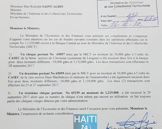 Des CASECS de Ouanaminthe et Léogâne accusés de fraude bancaire…