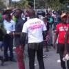 Des militants du PHTK manifestent contre la circulaire du 17 Avril 2017