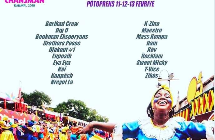 Haïti-Culture:19 groupes musicaux défileront au Carnaval national