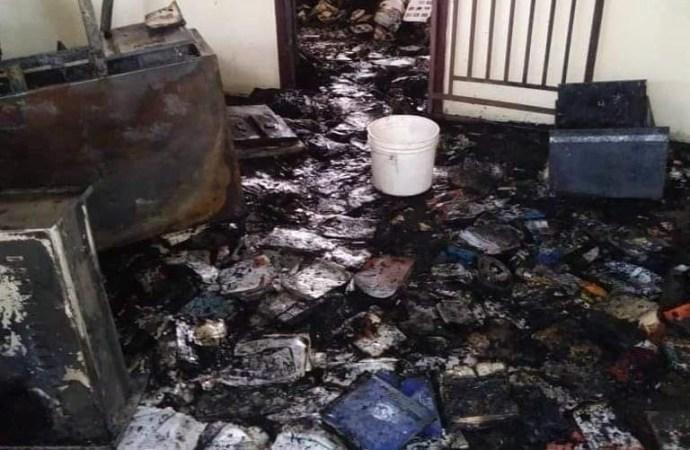 Le lycée national Henry Christophe de Trou du nord incendié
