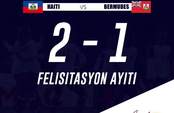 Gold Cup: Haïti s'impose 2-1 face aux Bermudes !