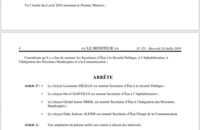 Nouvelle nomination au cabinet ministériel