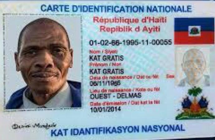 Prolongation de la date de validité de la carte d'identification nationale