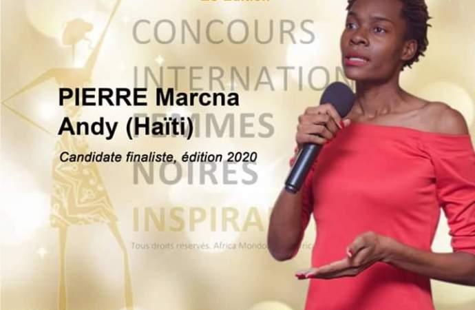 Concours international des Femmes noires inspirantes: Marcna A. Pierre progresse
