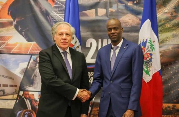 La crise en Haïti, objet de discussions entre Luis Almagro et Jovenel Moïse