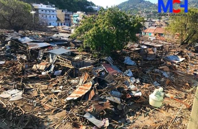 Cap-Haïtien: opération de déblayage des rues