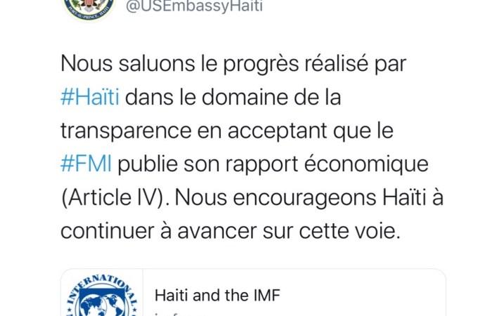 Coronavirus: les Etats-Unis saluent le progrès d'Haïti dans le domaine de la transparence