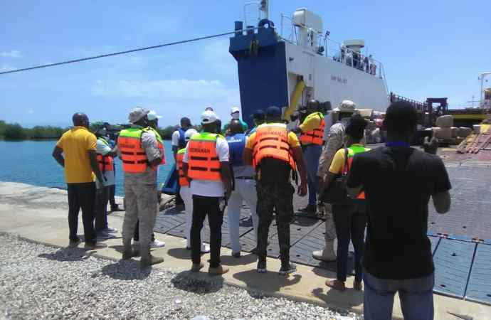 Le Directeur général du SEMANAH effectue une visite d'inspection au port du Cap-Haïtien
