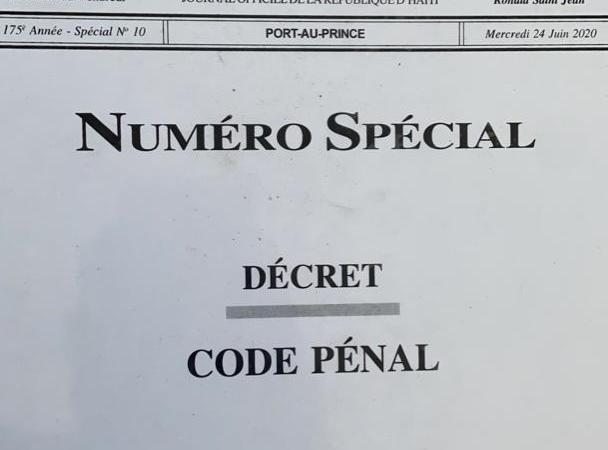 Code pénal : Les auteurs du document font une mise au point