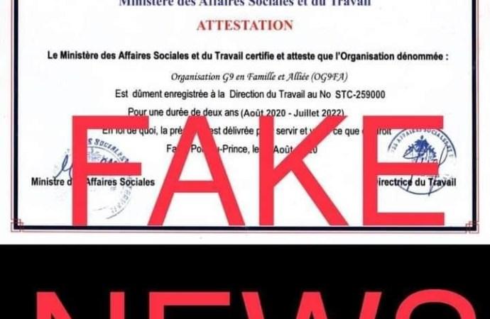 Le G9 n'a pas l'autorisation du ministère des Affaires sociales, dément la directrice du Travail